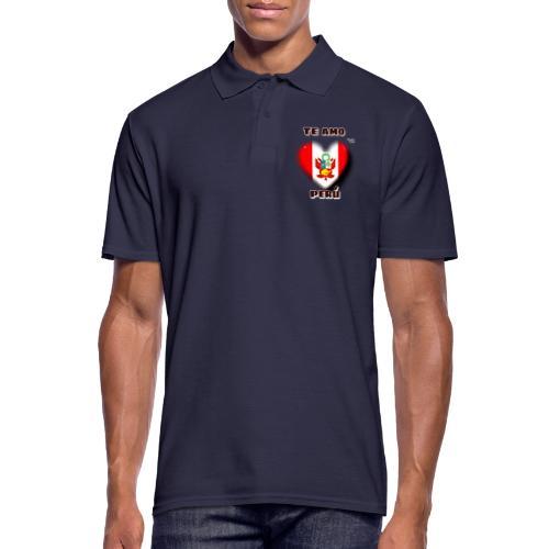 Te Amo Peru Corazon - Männer Poloshirt
