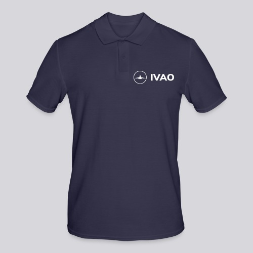 IVAO (Logo Complet Blanc) - Polo Homme