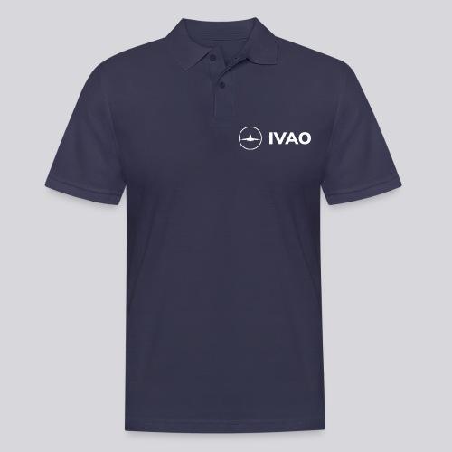IVAO (White Full Logo) - Men's Polo Shirt