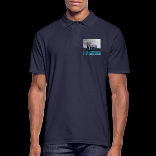 Elbphilharmonie   HAMBURG-Typo  Künstlermotiv - Männer Poloshirt
