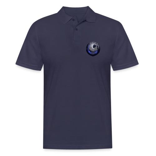 Rigormortiz Metallic Blue-Black Design - Men's Polo Shirt