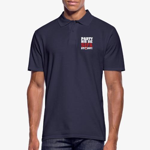 PARTY BIS DIE SIFA STOPPT 1 - Männer Poloshirt
