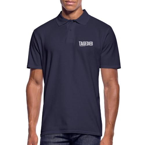 TAGEDIEB - Print in weiß - Männer Poloshirt