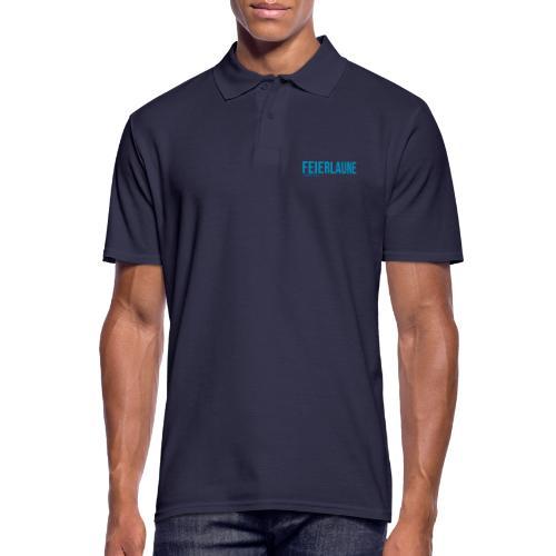 FEIERLAUNE - Print in blau - Männer Poloshirt