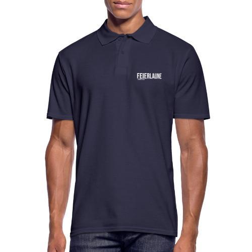 FEIERLAUNE - Print in weiß - Männer Poloshirt