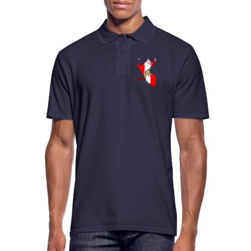 Mapa del Peru, Bandera y Escarapela - Men's Polo Shirt