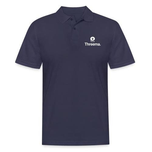 Logo mit Icon - Männer Poloshirt