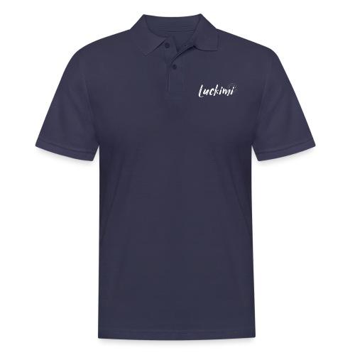 Luckimi logo white - Men's Polo Shirt
