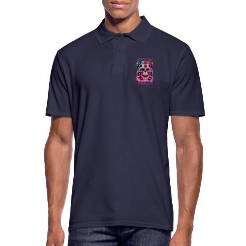 ORIGINAL SKULL CULT PINK - Männer Poloshirt