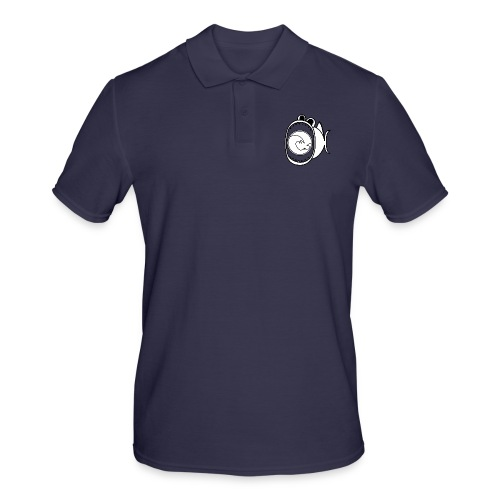 201606 Tuna Wave Logo (White / Black) - Men's Polo Shirt