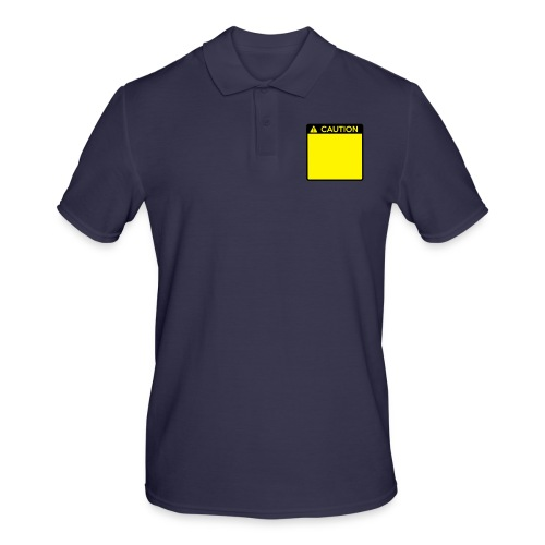 Caution Sign (2 colour) - Men's Polo Shirt