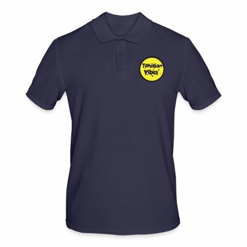 Tahitian Vibes jaune noir rond logo - Polo Homme