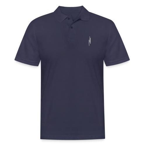 Upwards 3Lines Design WHITE - Men's Polo Shirt