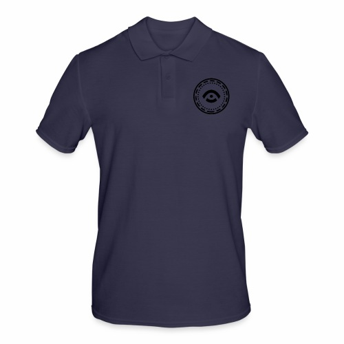Circle Black - Men's Polo Shirt
