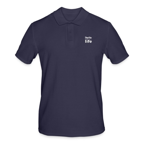 ONE HELLO CAN CHANGE YOUR LIFE - Männer Poloshirt