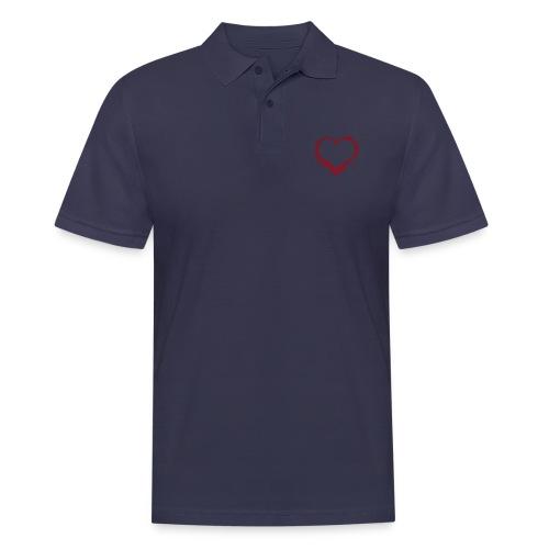 Herz/Heart - Männer Poloshirt
