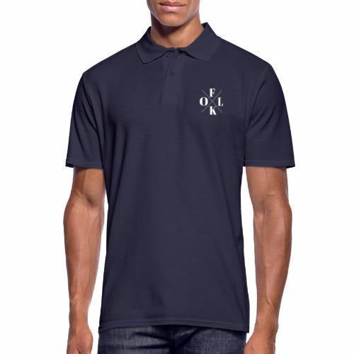 Folk Logo White - Men's Polo Shirt