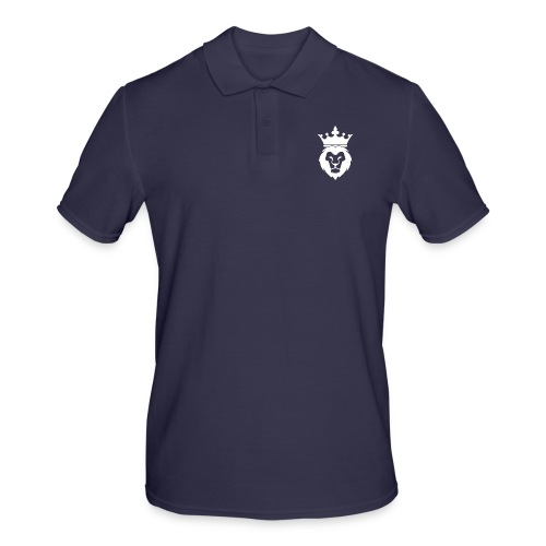 Lion_Logo_with_Crown_St--rre_bild_-white- - Pikétröja herr