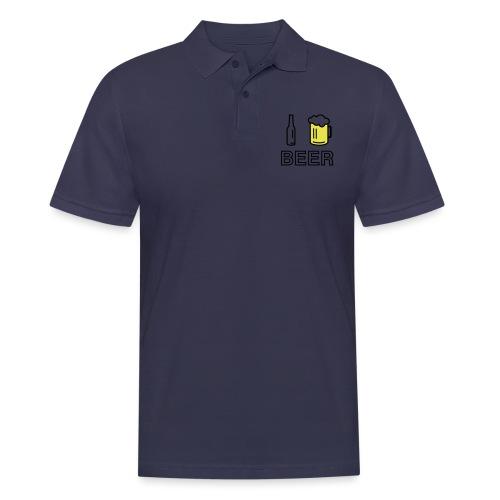 I Love Beer (2-farbig) - Männer Poloshirt