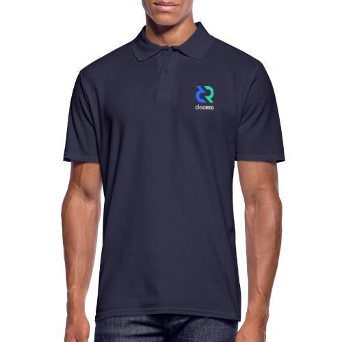 Decred logo vertical color white - Mannen poloshirt