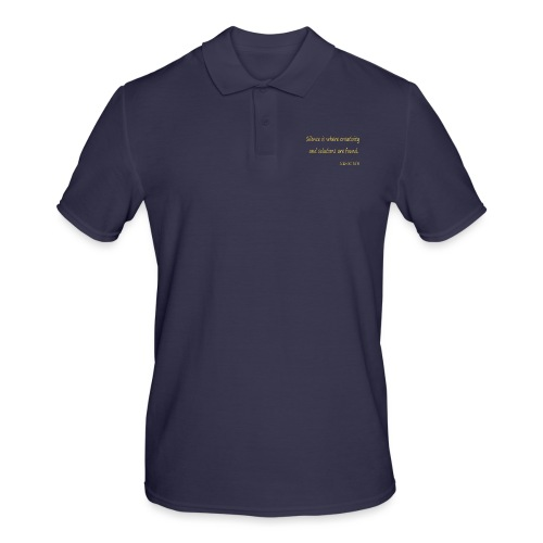 Silence and Creativity - Men's Polo Shirt