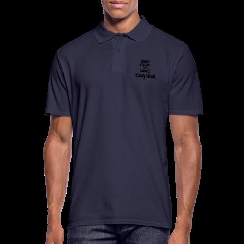 keep calm and love canyoning - Männer Poloshirt