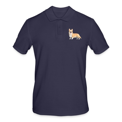 Topi the Corgi - Sideview - Men's Polo Shirt