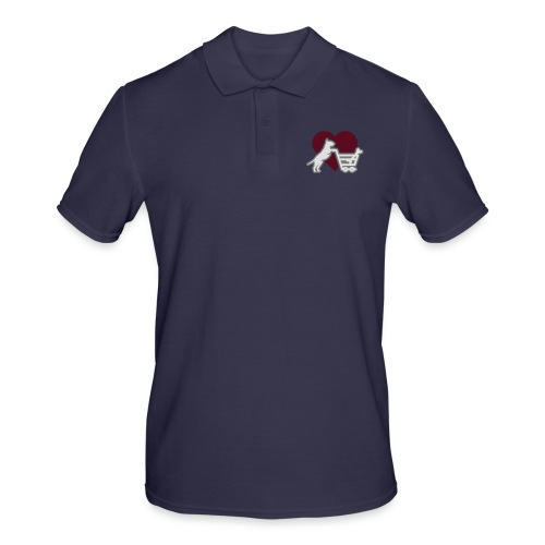 Shopping Bullterrier LOVE 3c - Männer Poloshirt