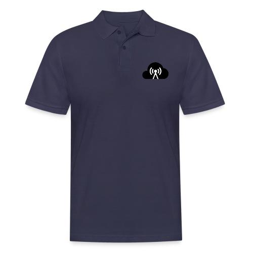 Cloud Cast Wolke schwarz mit Schriftzug - Männer Poloshirt