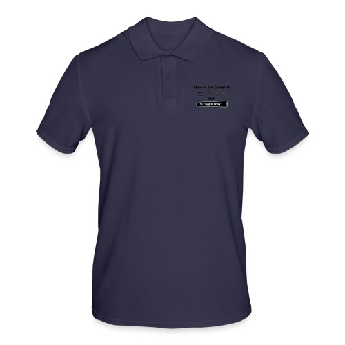 I_LIVE_AT_THE_CORNER_CUT_-2- - Men's Polo Shirt