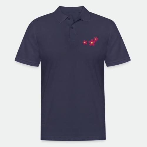 Three Flowers - Men's Polo Shirt