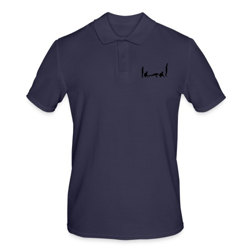 burpees silhouette - Männer Poloshirt