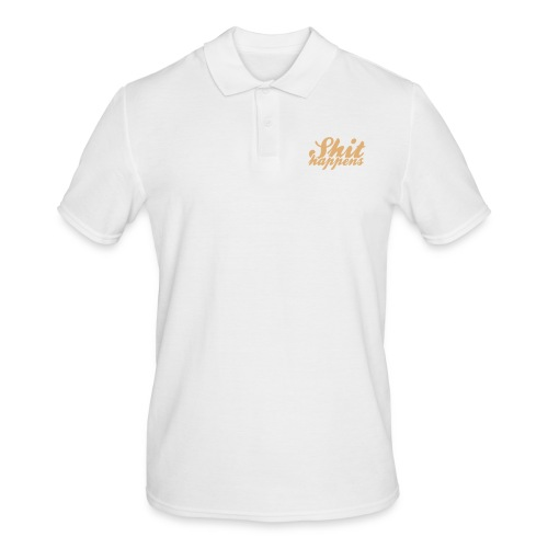 Shit Happens and Politics - Men's Polo Shirt