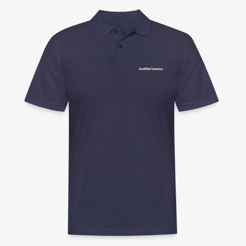hashtag jeffdietastatur weiss - Männer Poloshirt