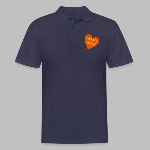 Liebste Mama - Auf Herz ♥ - Männer Poloshirt