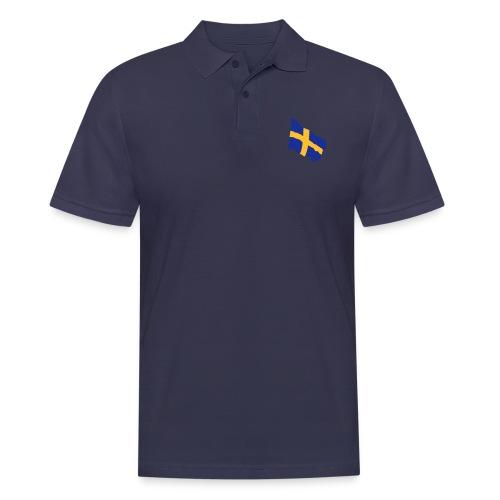 Flagge Schwedenflagge flatternd, Sweden Sverige - Männer Poloshirt