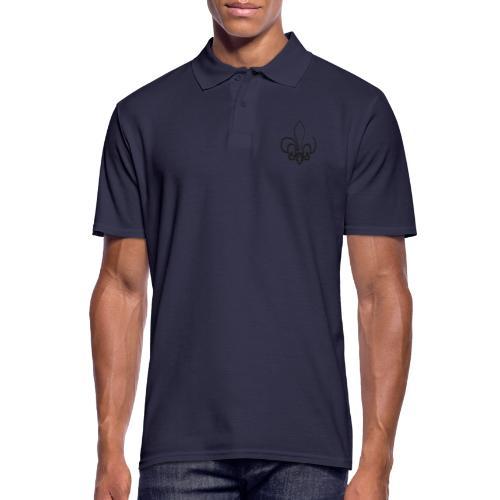 Pinselzeichnung Lilie – Schwarz - Männer Poloshirt