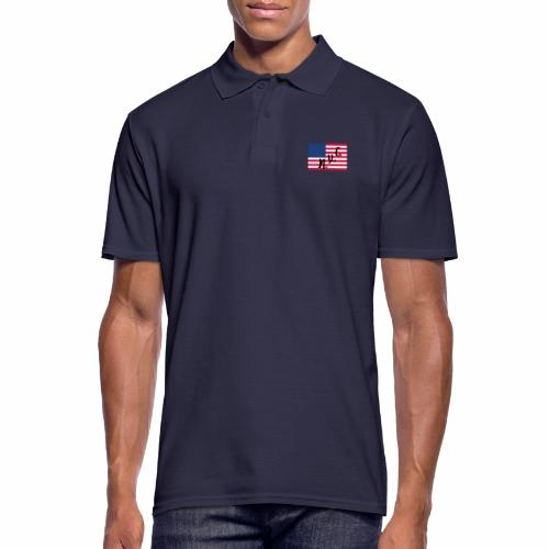 America Flag NYC - Männer Poloshirt