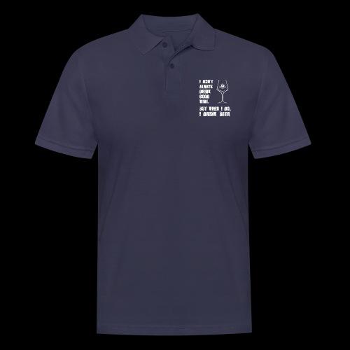 T-Shirt - I drink beer (schwarz) - Männer Poloshirt