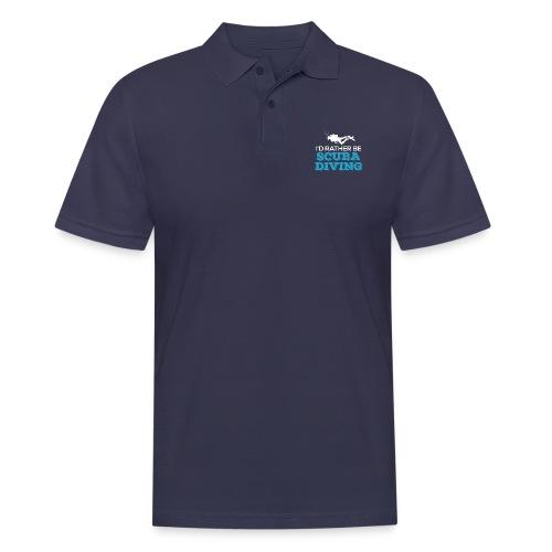 I'd Rather Be Scuba Diving - Männer Poloshirt