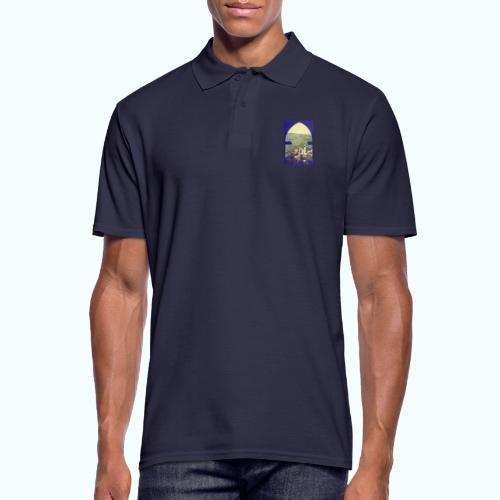 Tuscany vintage travel poster - Men's Polo Shirt