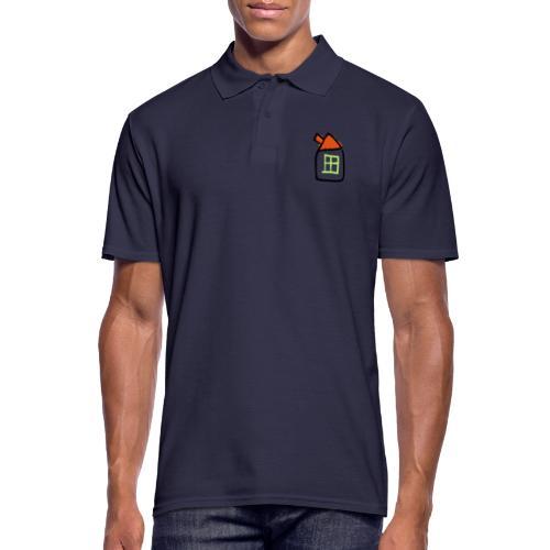 House Line Drawing Pixellamb - Männer Poloshirt