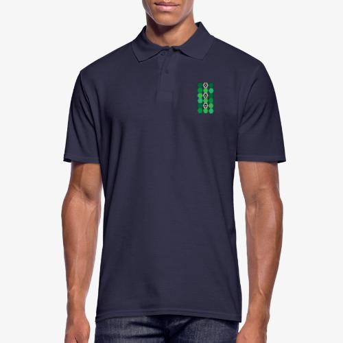 |K·CLOTHES| HEXAGON ESSENCE GREENS & WHITE - Polo hombre