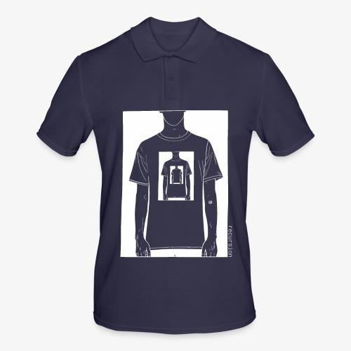 Recursion inverted | Geek | Art | Loop | - Men's Polo Shirt