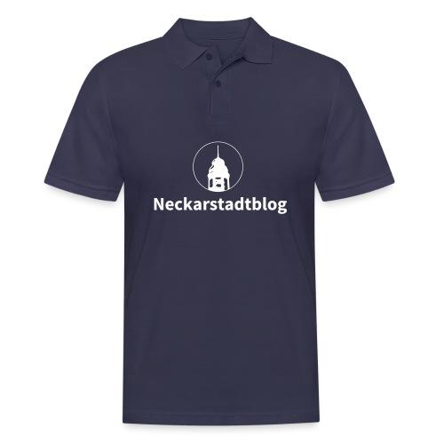Neckarstadtblog – Logo und Schriftzug - Männer Poloshirt