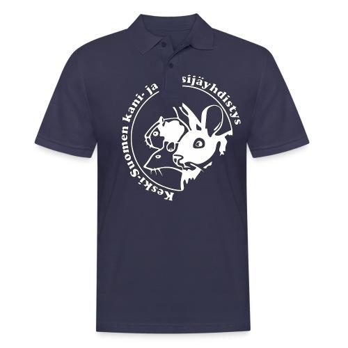 KSKJY logo- Valko-musta - Miesten pikeepaita