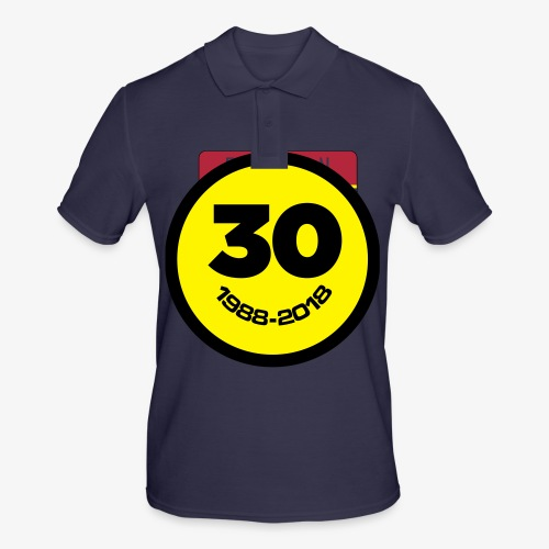 30 Jaar Belgian New Beat Smiley - Mannen poloshirt