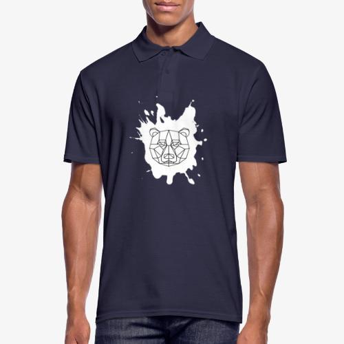 Bär Geometrisch splash - Männer Poloshirt