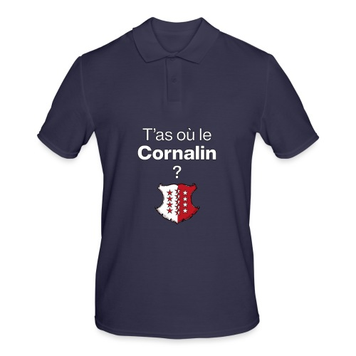 T'as où le Cornalin ? en Valais ! - Männer Poloshirt