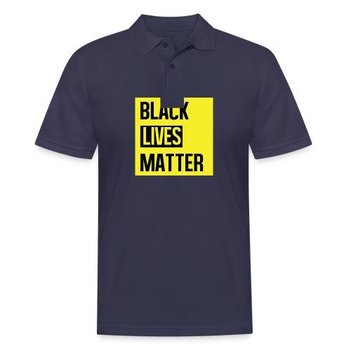 Black Lives Matter (yellow) - Mannen poloshirt